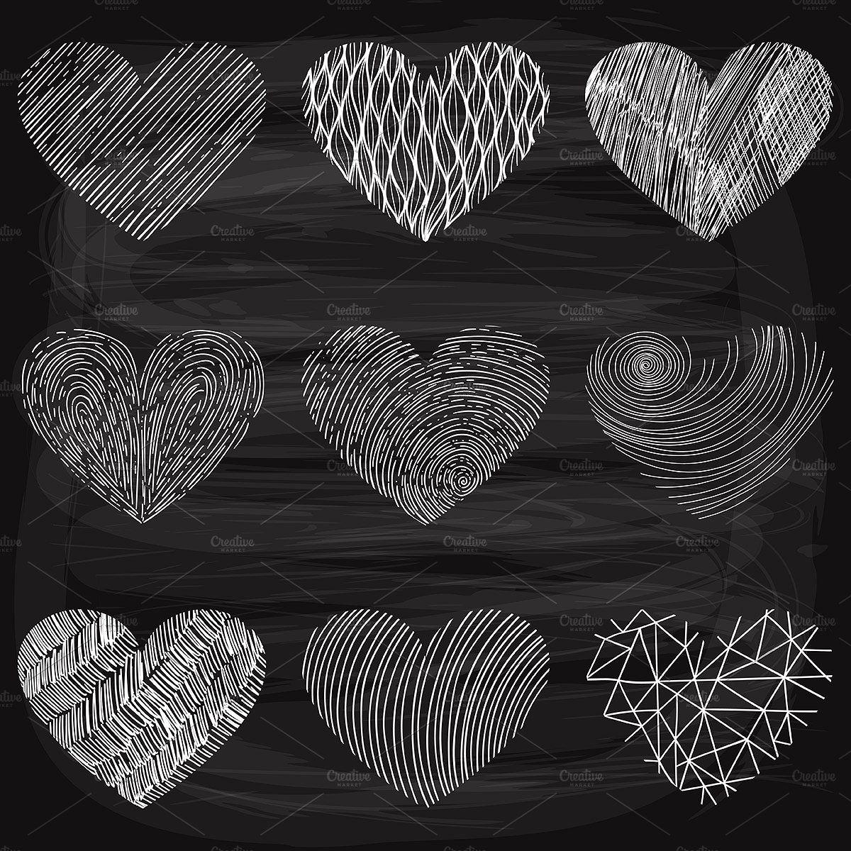 Funky Hearts Set