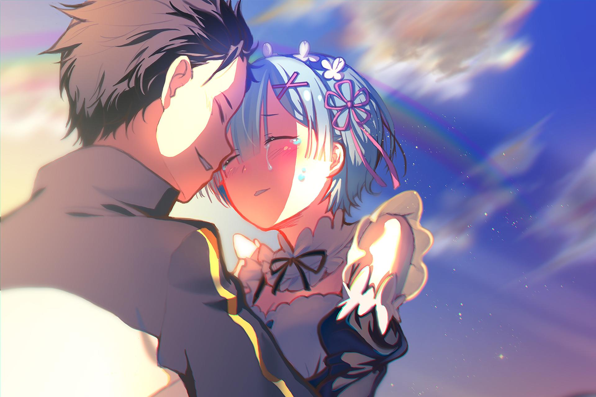 Rem Y Subaru Anime Anime Music Anime Wallpaper