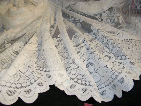 Incredible Victorian White Lace Fabric with by coyotecreekfabrics, $15.99
