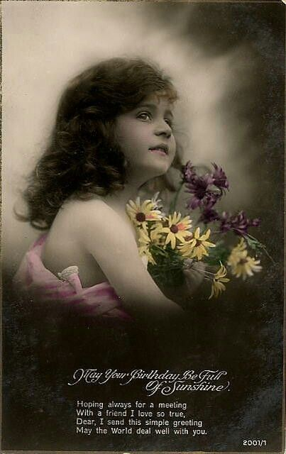 Birthday Greetings Vintage Postcards Pinterest Birthday greetings