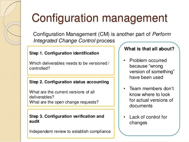 Configuration Management Plan Template Change Management Process