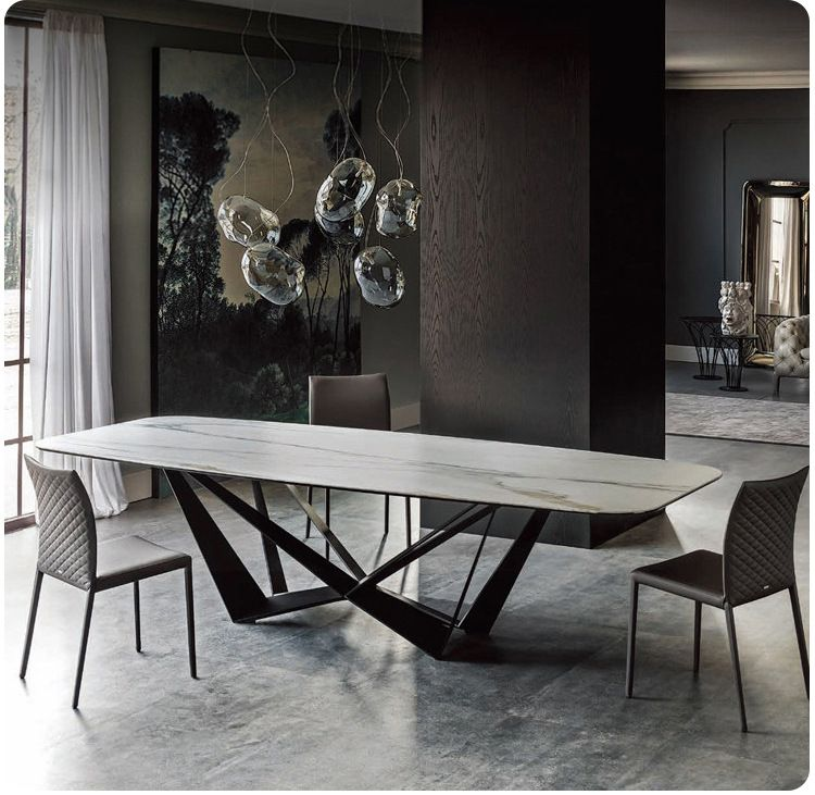 Stainless Steel Dining Room Set Home Rectangle Minimalist Modern Marble Dining Table And 6 Chairs Dining Table Marble Modern Marble Dining Tables Dining Table