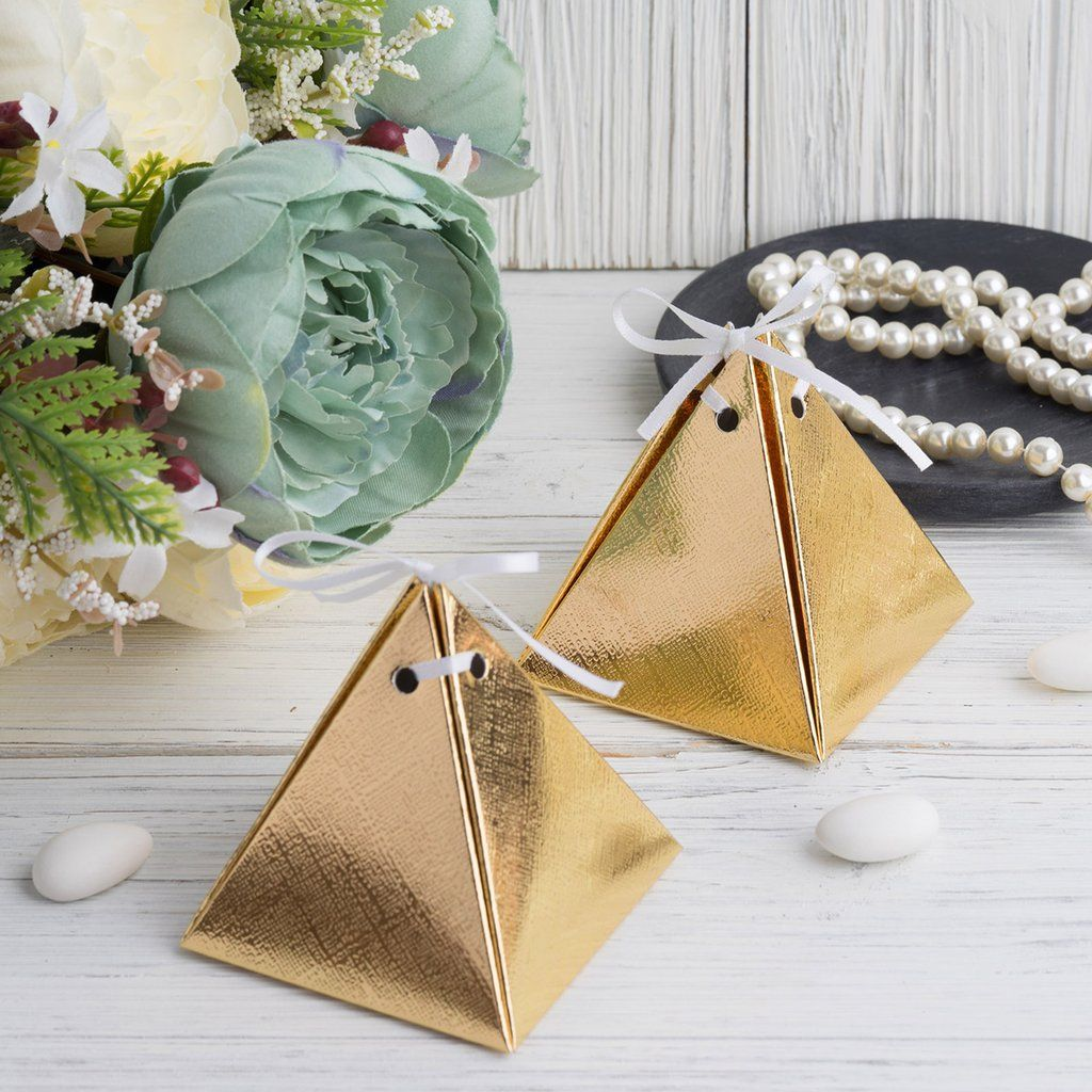 Unique Party Triangle Cone Gift Bags Pack of 25