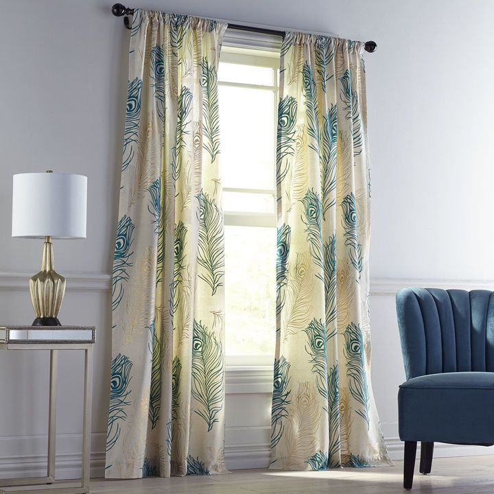 from in item blinds blind bead fashion room bronzier blue living the flannelet curtains finished drapes velvet peacock curtain home