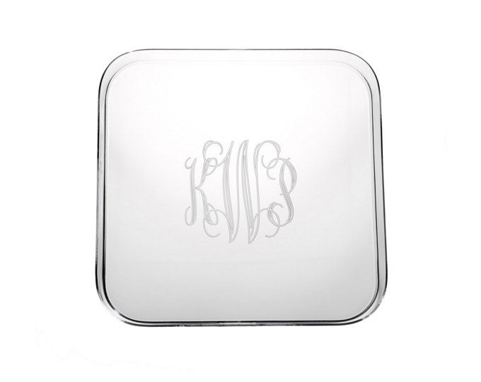 Monogrammed Acrylic Tray, Personalized Lucite Tray, Wedding Gift, Monogram Lucite Tray, Hostess Gift, Housewarming Gift, Gift for Her
