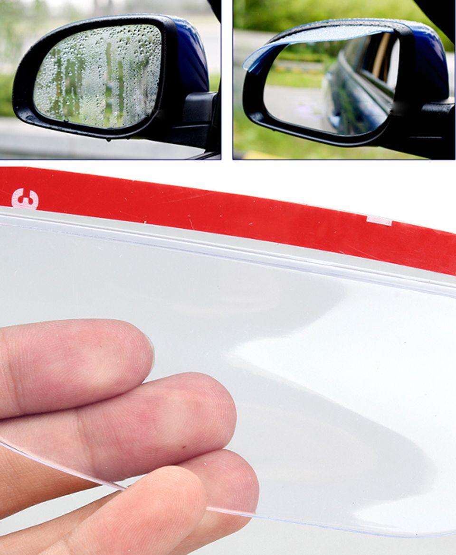 2pcs Universal Transparent Plastic Car Rearview Mirror Shield Rain Board Car Auto R Mirror Car Accessories Car Rearview Mirror Accessories Car Rear View Mirror