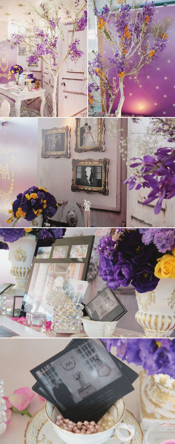 Lavender decor for wedding Lovely European vintageinspired purple wedding decor  Wedding