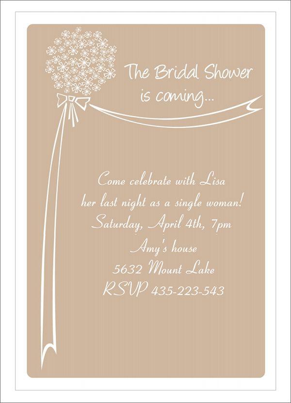 22 Free Bridal Shower Printable Invitations visit www - free bridal shower invitation templates for word