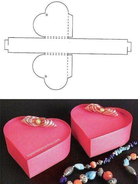 Caixas De Papel Para Imprimir E Montar Amor Caixa De Papelão