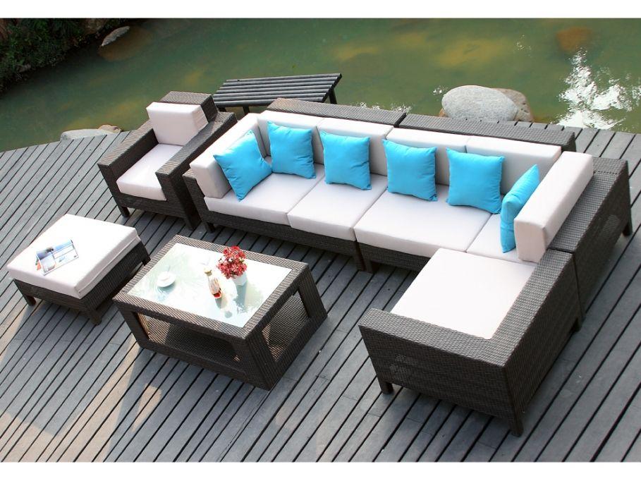Salon de jardin LAGON : prix promo 899.99 € prix constaté 3 082 ...