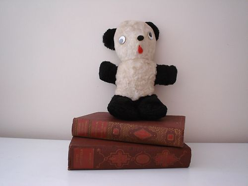 Vintage Panda Bear Stuffed Plush Toy - Mine was so loved her white is gray.  Her name is Patsy.
