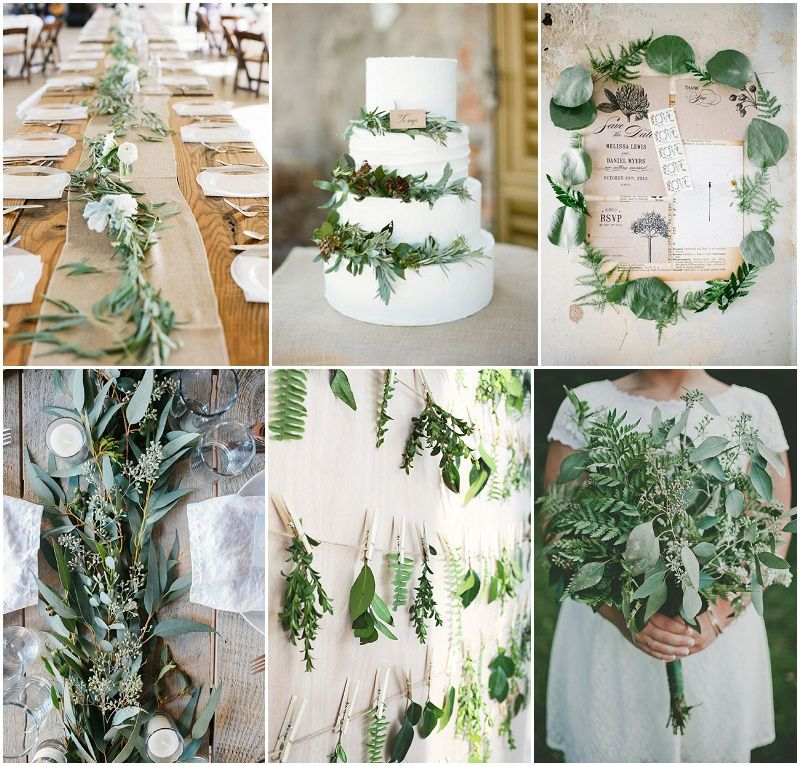 Hochzeitsdeko Ideen: Trend 2015: Green Botanical Wedding
