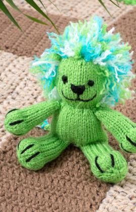 Leon the Lion Free Knitting Pattern from Red Heart Yarns ...