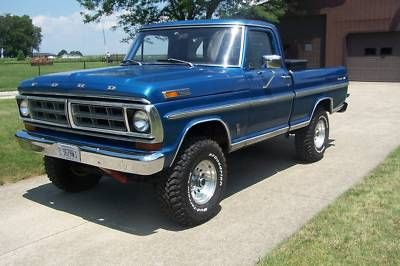 1972 Ford 4x4 1970 Ford F 100 F100 4x4 Xlt Ranger Short Bed