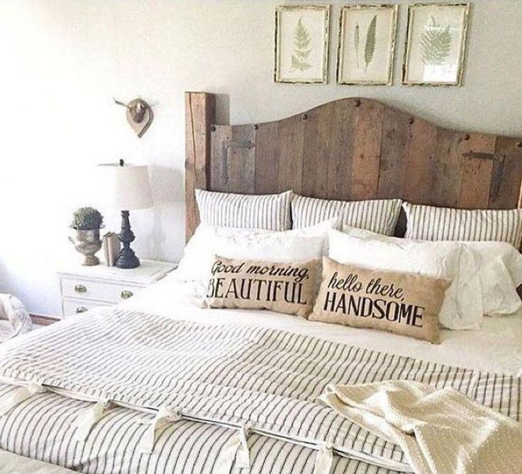 50 Cozy Farmhouse Master Bedroom Remodel Ideas: Rustic Farmhouse Master Bedroom Ideas