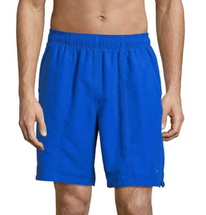 f2efea5ae2 NWT Speedo Solid Rally Volley Swim Trunks 19 Inch navy Mens M medium  #fashion #