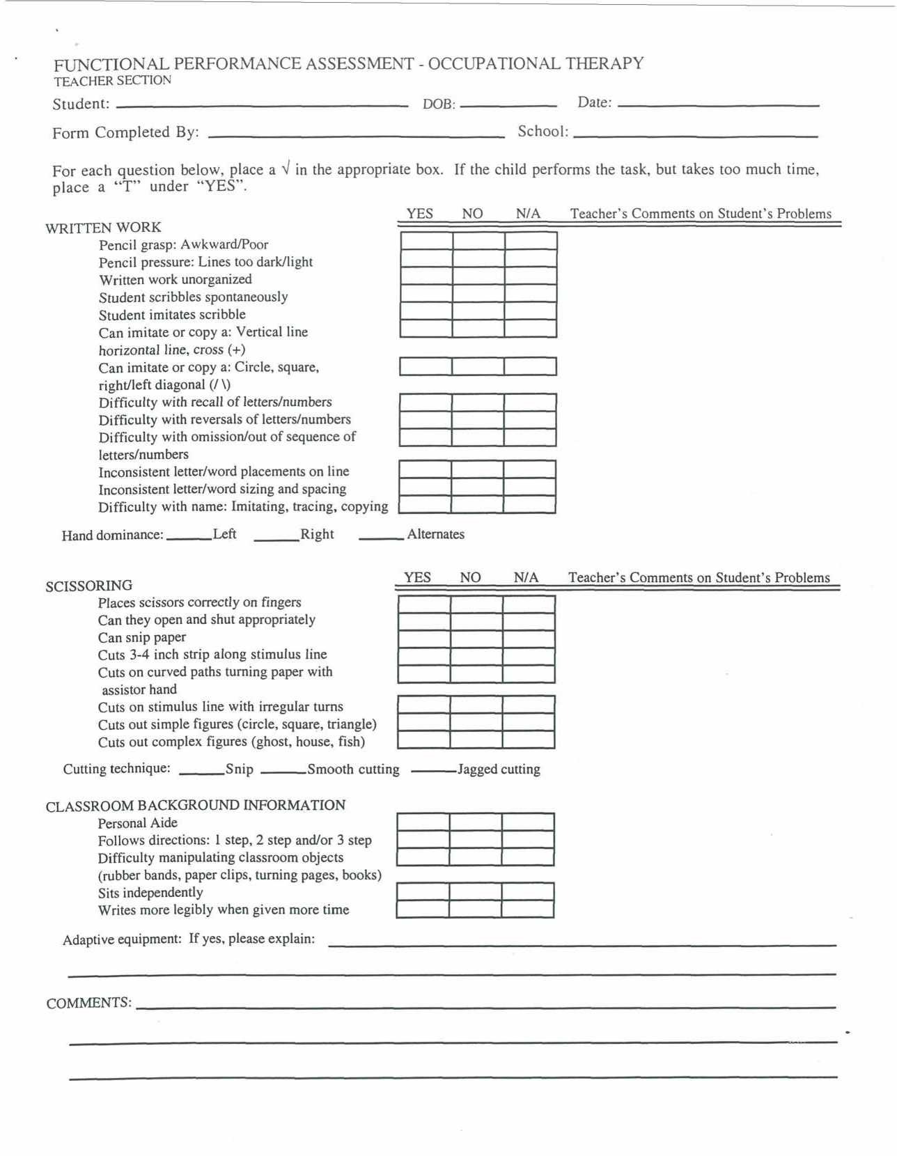 tenncare occupational therapy templates you need to enable tenncare occupational therapy templates functional performance assessment occupational therapy