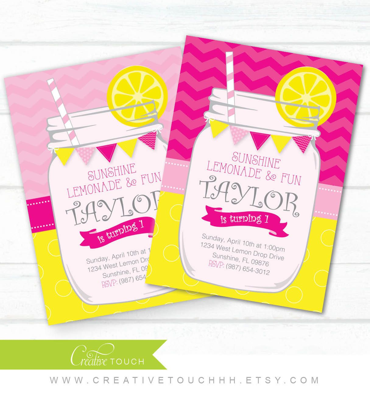 Lemonade Birthday Invitation Lemonade di CreativeTouchhh su Etsy