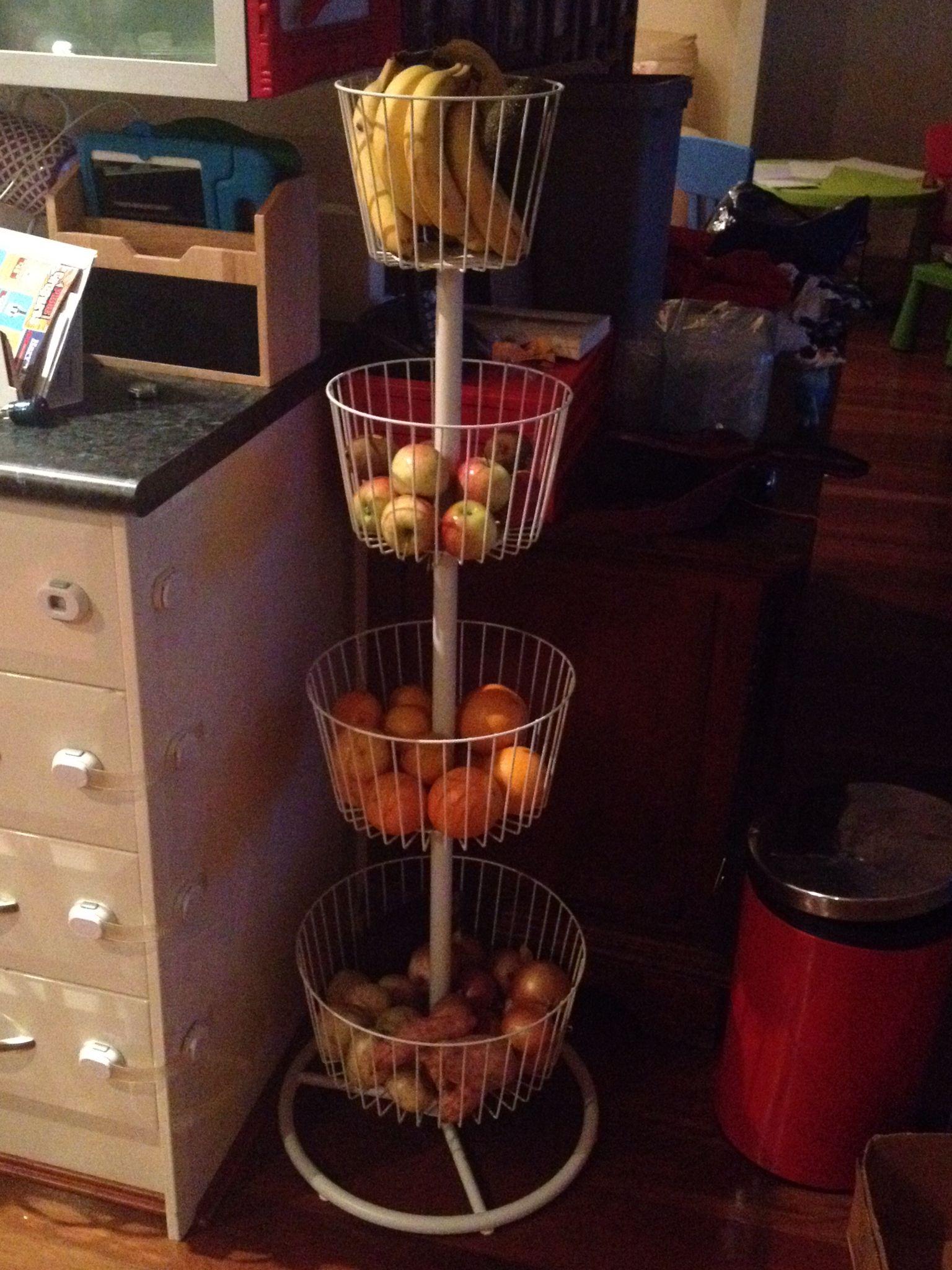 Fruit And Veg Storage Idea Ikea Basket Tower Ikea Basket Flat Ideas Fruit And Veg