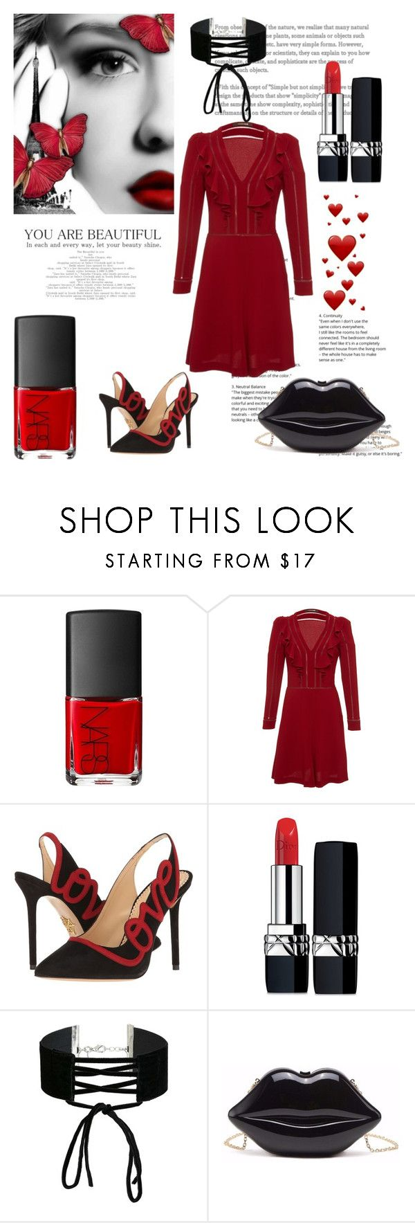 """""""You are beautiful"""" by im-karla-with-a-k ❤ liked on Polyvore featuring Roberto Cavalli, Charlotte Olympia, Christian Dior and Miss Selfridge"""