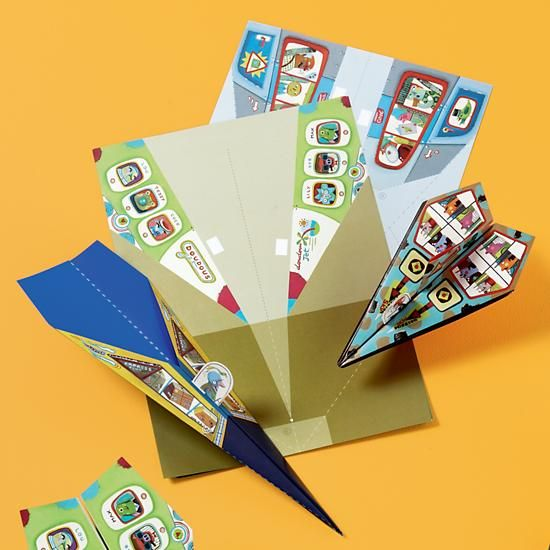 paper airplanes kit in arts crafts the land of nod activities