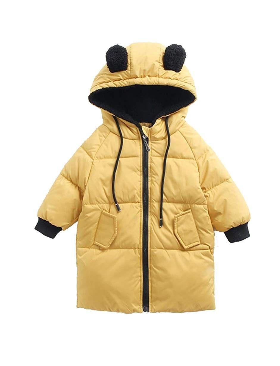 28ef93fe06a Kids' Boys' Girls' Winter Down Puffer Coats Long Parka Coats Ears ...