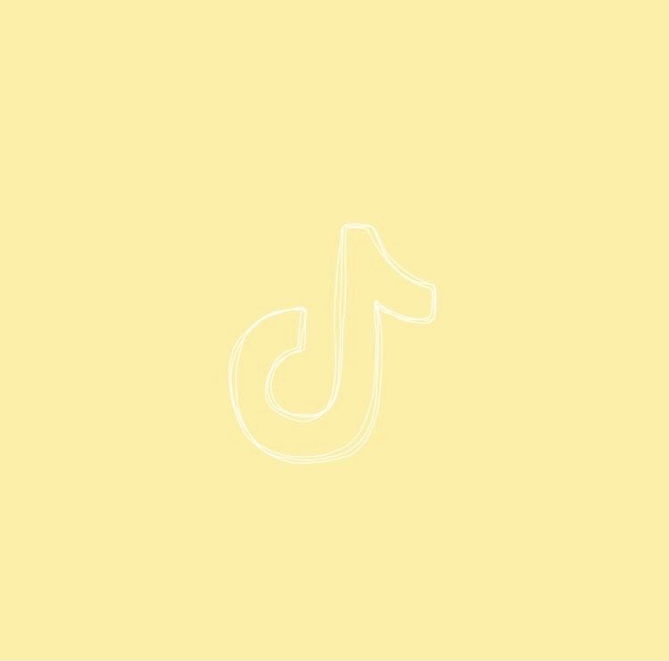 Pastel Yellow Tiktok Icon App Icon Ios App Icon App Store Icon This is a video tiktok aesthetic logo yellow may be you like for reference. pastel yellow tiktok icon app icon