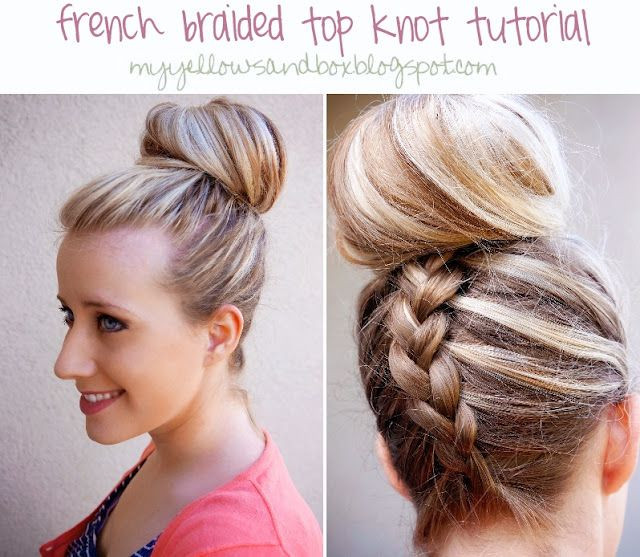 26++ Braided top knot hair tutorial trends