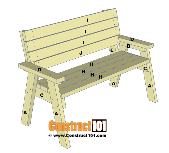2x4 Bench Plans Step By Step Material List Diy Bench Plans