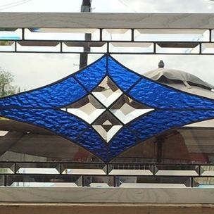 Stained Glass Window/ Geometric And Elegant Design by