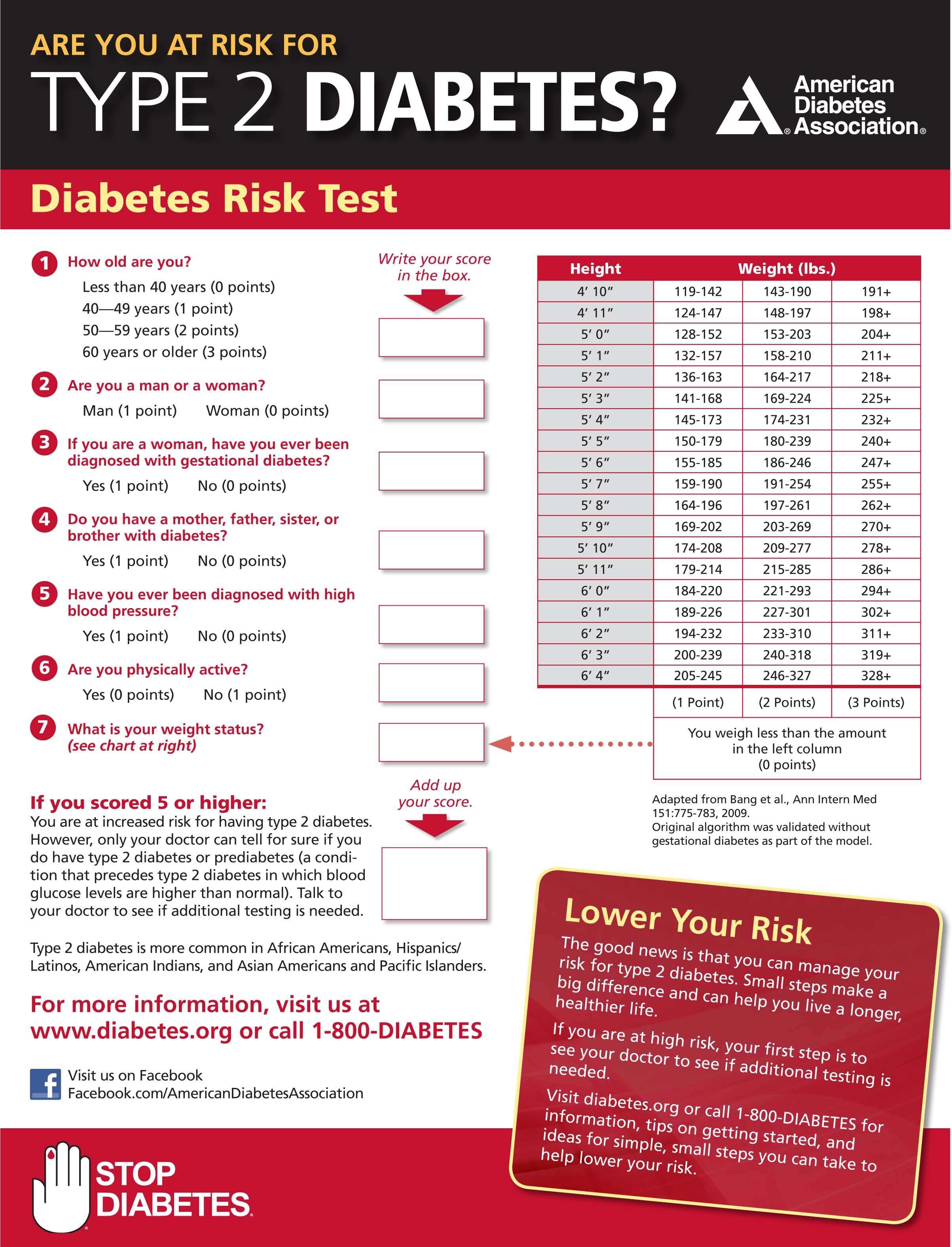 Are you at risk for diabetes? Take this quiz to find out http:/