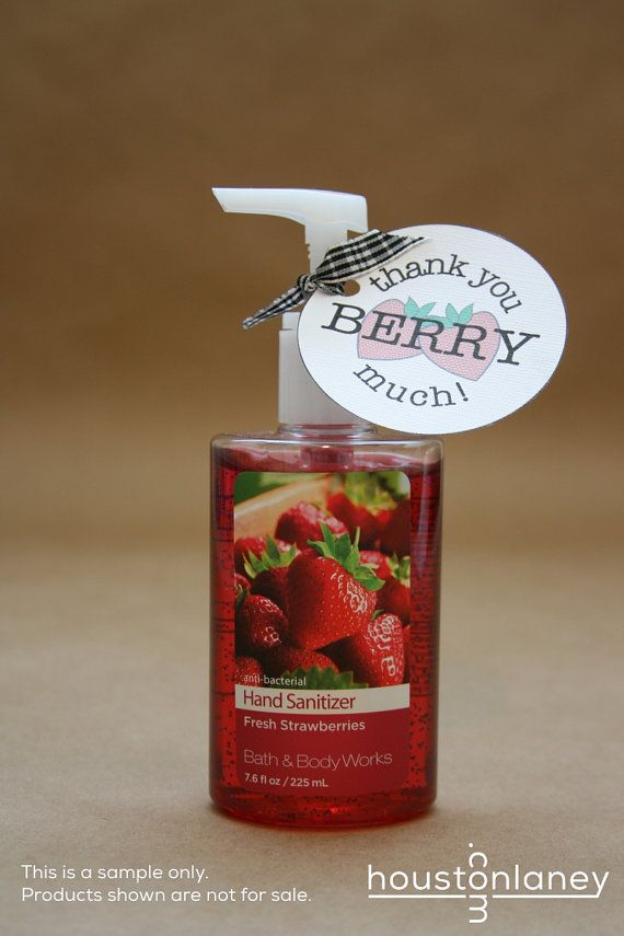 Thank You Berry Much (Raspberry) Thank You Tag