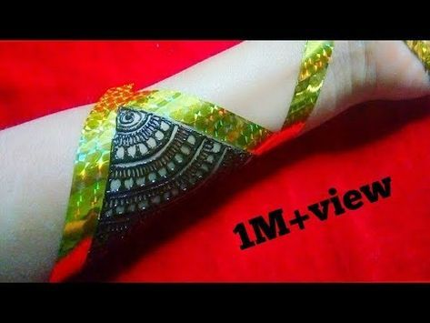 #hennadesign #mehandidesign mehandi design(मेहंदी डिजाइन) for beginners with the help of tap - YouTube