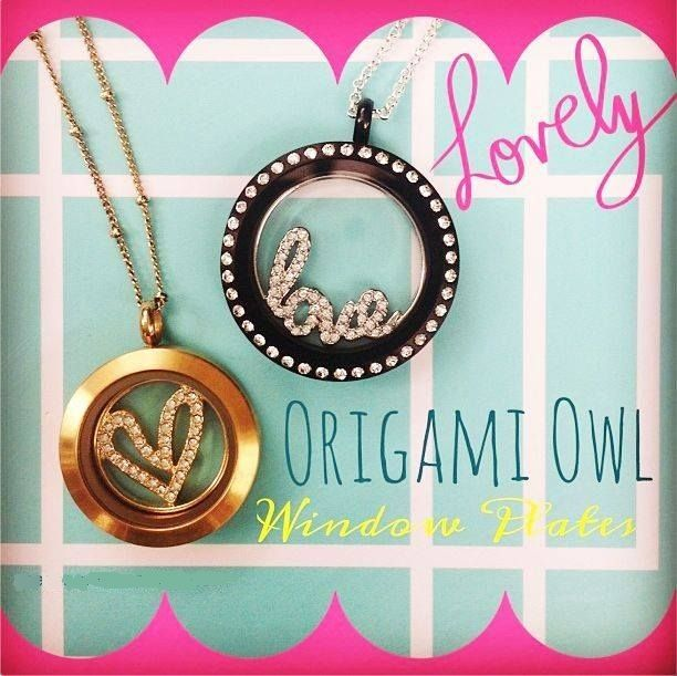 NEW Origami Owl bling window plates for your locket! Available Oct 8th