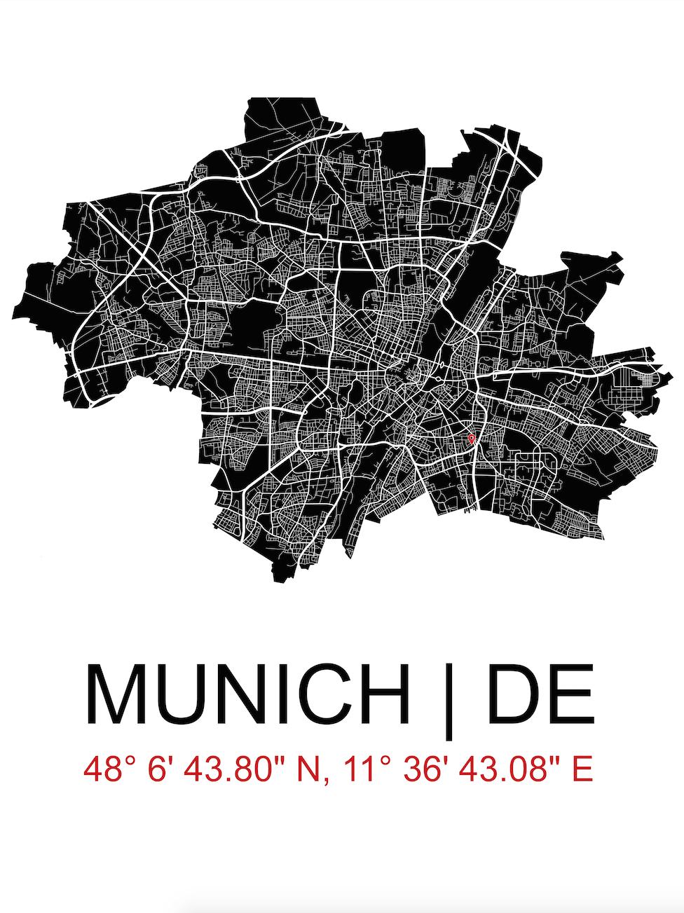Munich City Map