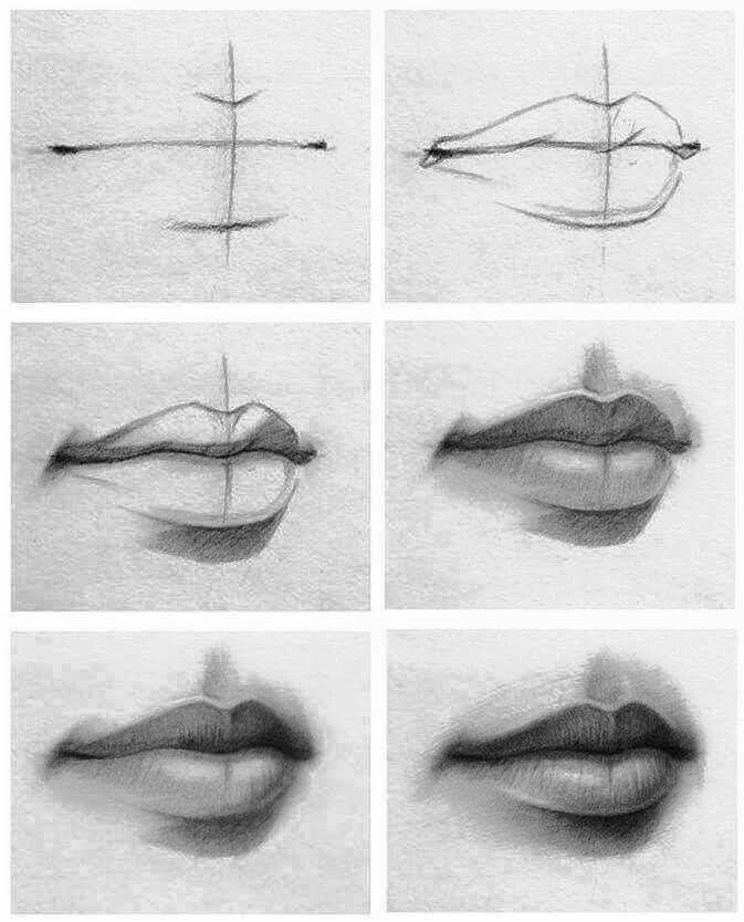 Tutorial of drawing lipscheck it out if youre having problems drawing lips artist is unknown