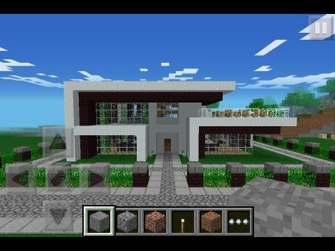 Simple Houses In Minecraft Pe Minecraft House Tutorials Minecraft House Designs Minecraft Modern