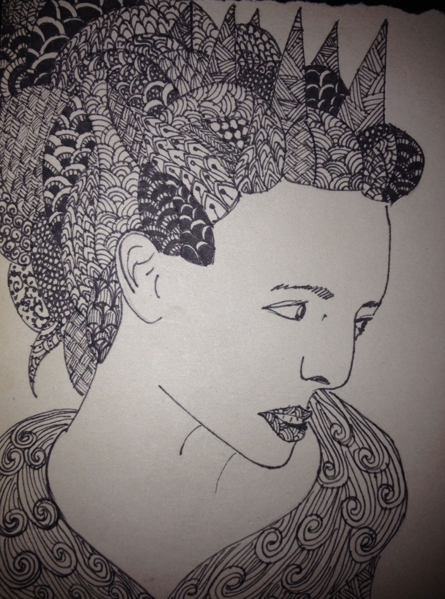 Zentangle ice queen from Narnia