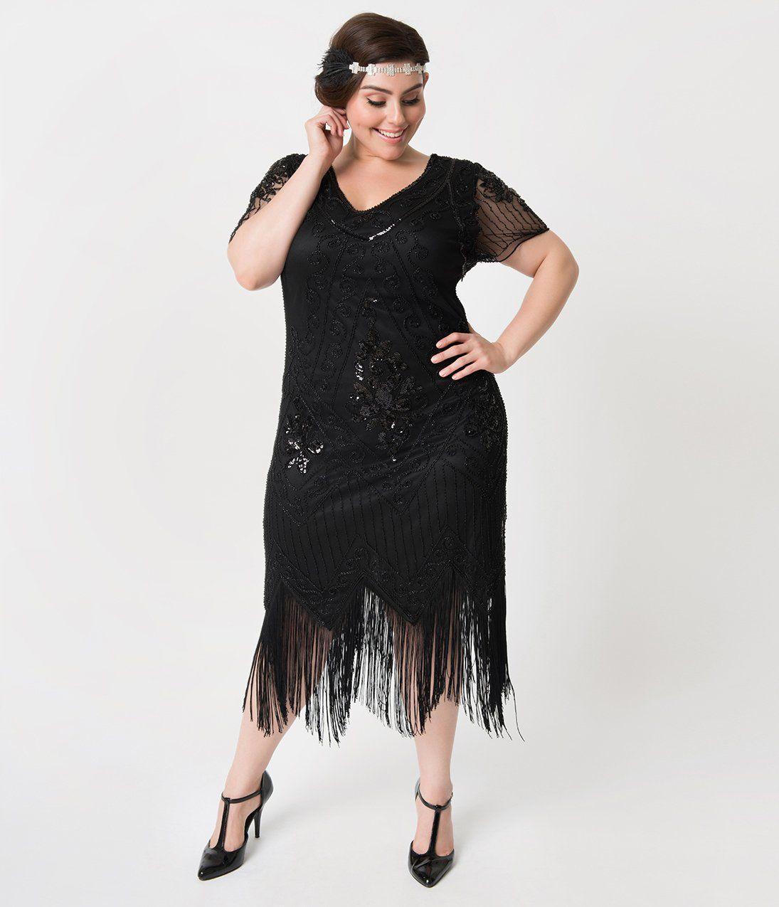 1920s Plus Size Flapper Dresses Gatsby Dresses Flapper Costumes Plus Size Flapper Dress Plus Size Flapper Costume Plus Size Cocktail Dresses [ 1275 x 1095 Pixel ]