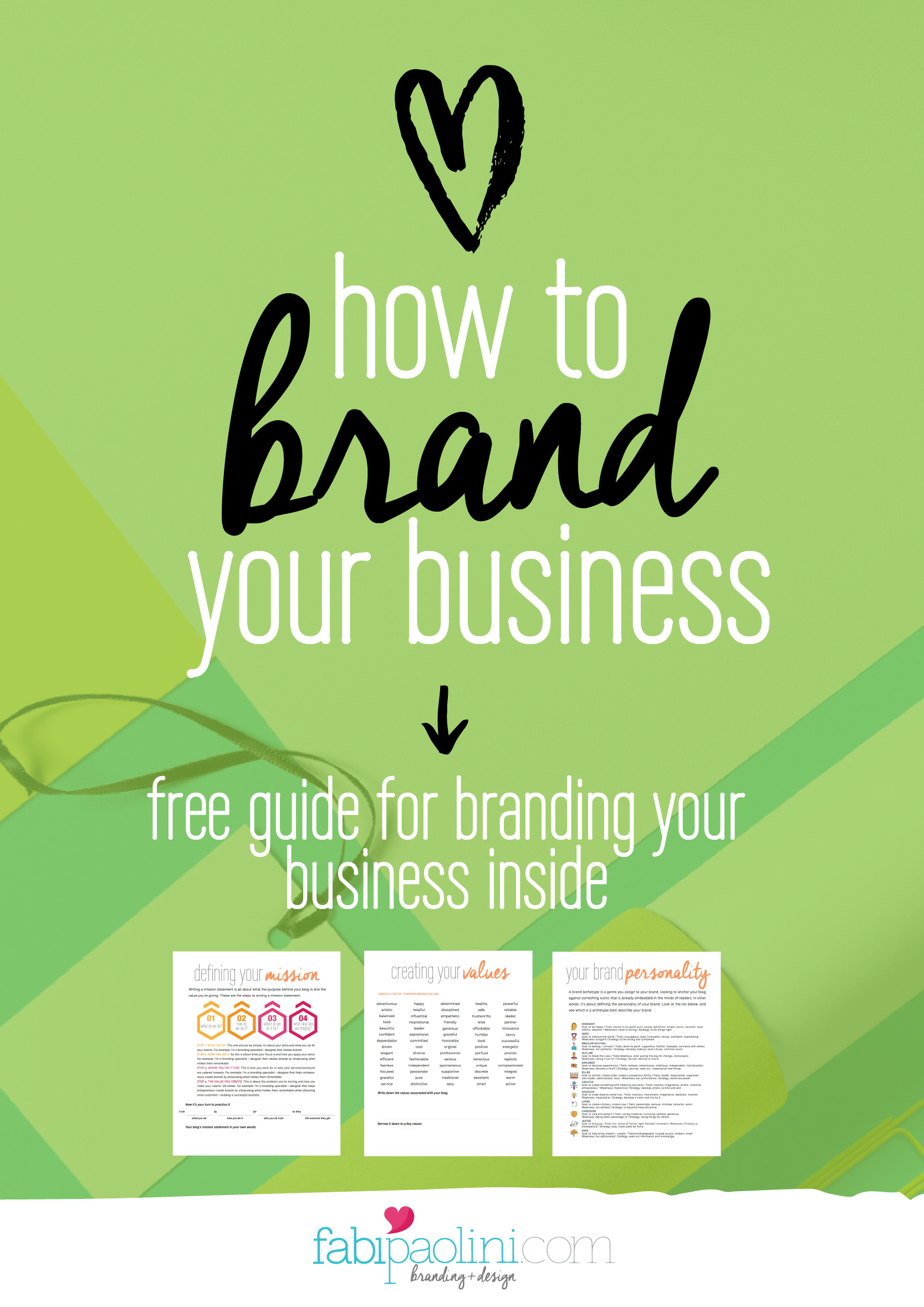 How To Brand Your Business Part 1 Fabi Paolini Branding Your Business Brand You Business