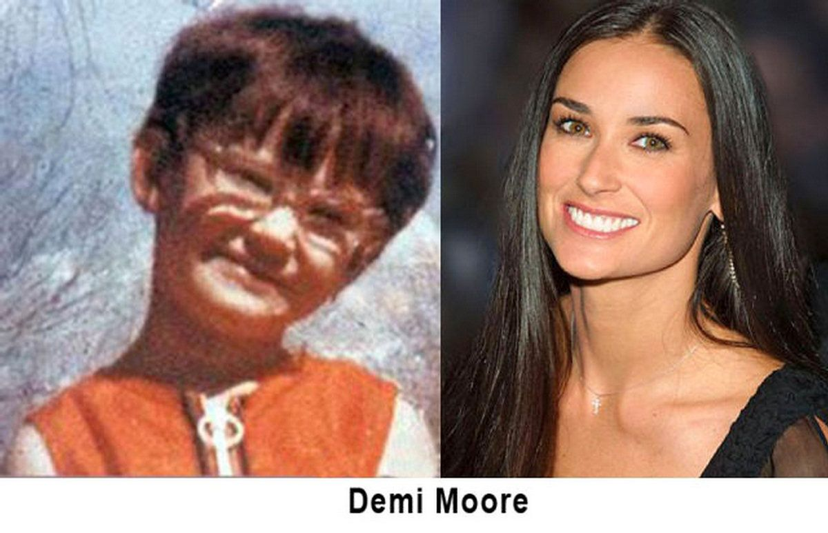 Demi Moore With No Hair Celebrities Then Vs Now