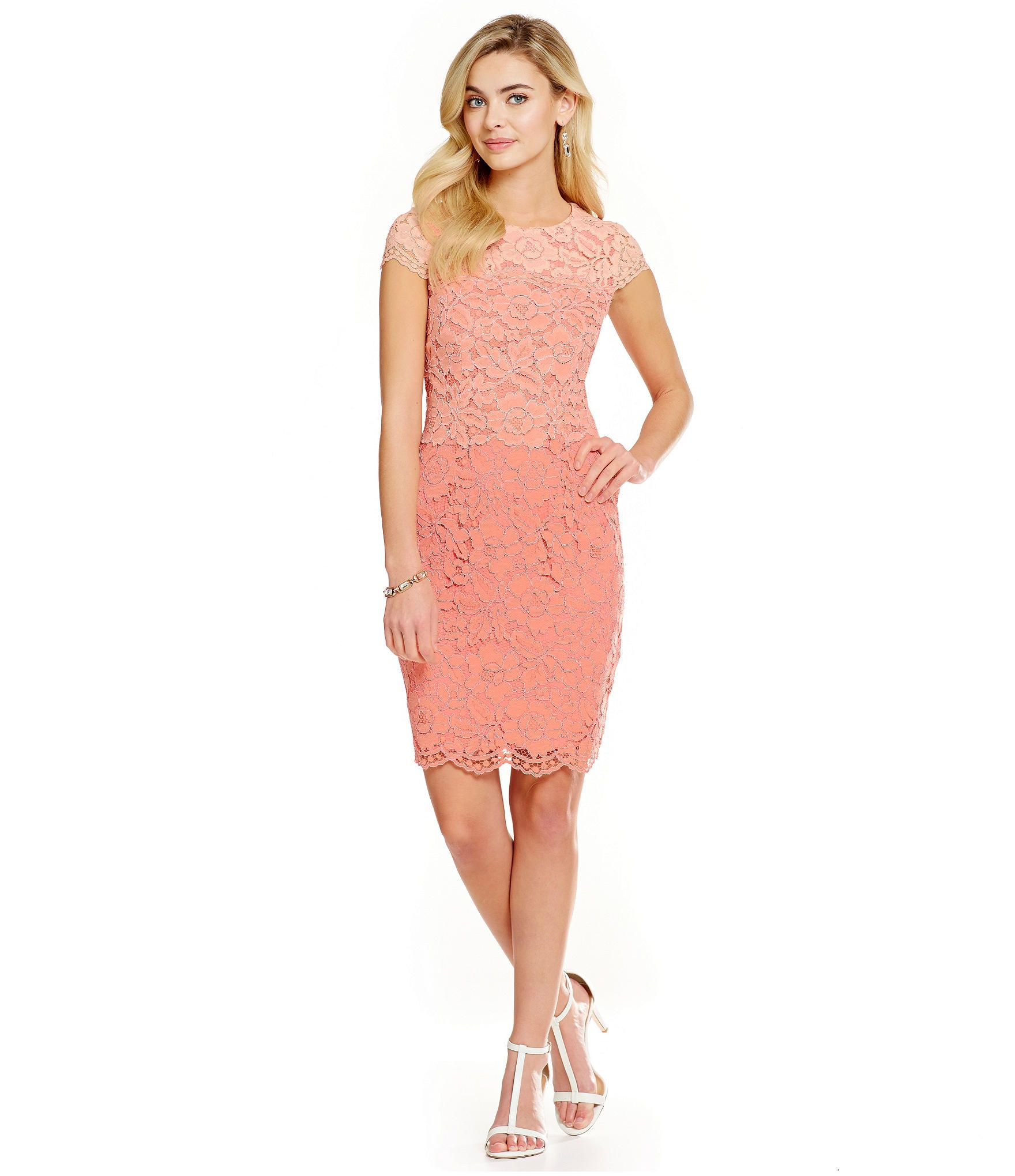 Antonio Melani Kaylee Scalloped Ombre-Lace Dress | Dillards ...