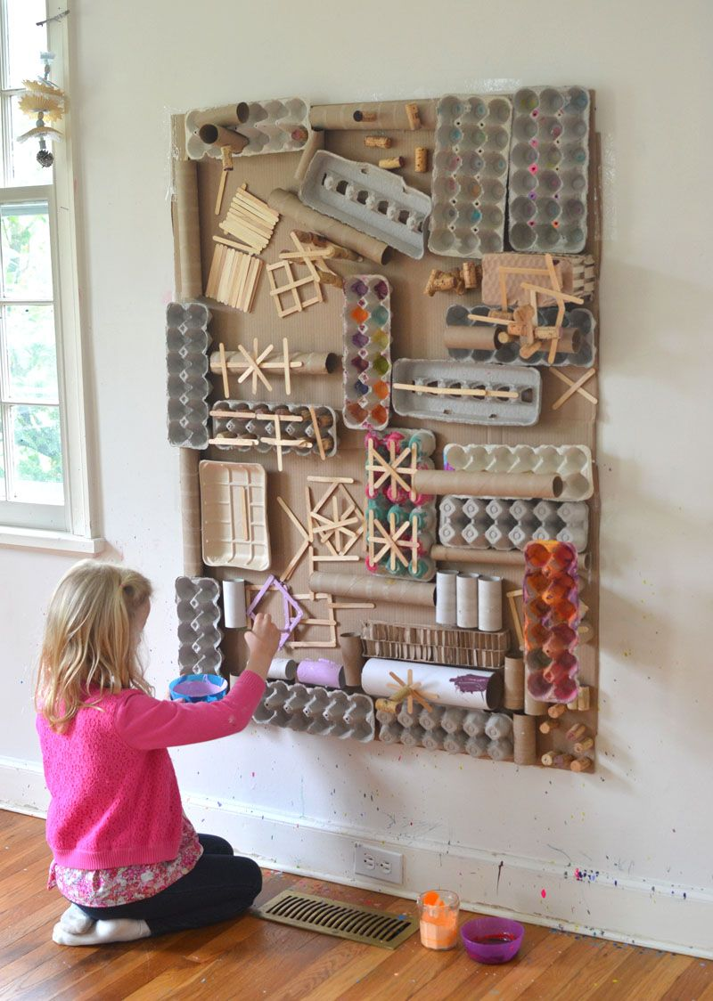 Make An Awesome Recycled Materials Art Wall