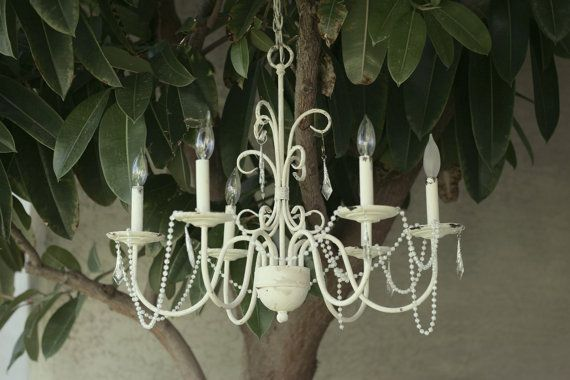 Shabby Chic Graceful Curvy Chandelier