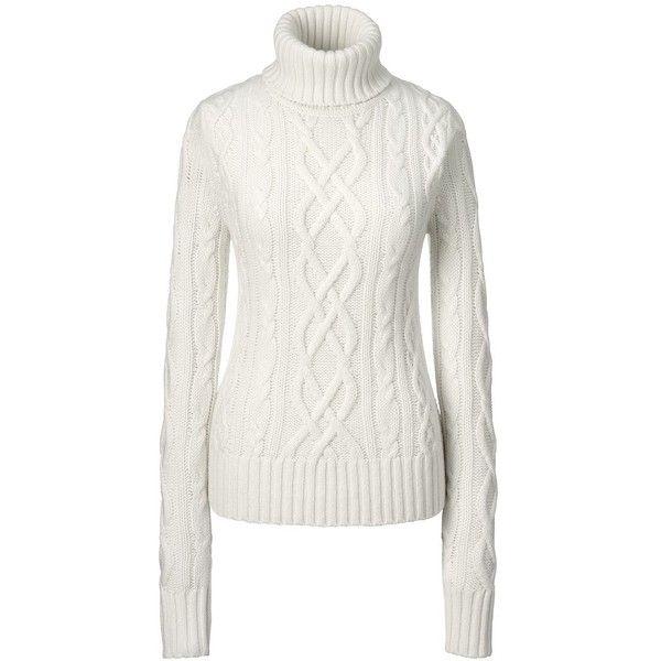 Lands' End Women's Petite Cashmere Turtleneck Sweater - Aran ($369 ...