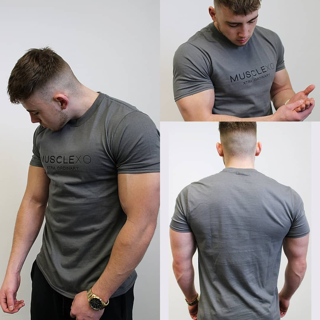 """Muscle XO - The Original T-Shirt Charcoal Grey / Black Use Code """"FRANKGONZALES15"""" For 15% OFF Entire..."""