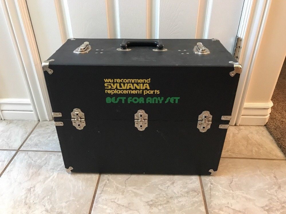 Vintage Sylvania Repair Box for TV Tubes Replacement Parts Carrying Case