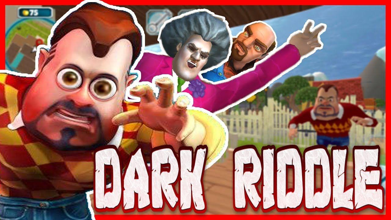 Cirkin Sakalli Komsuyu Kizdirdik Scary Teacher Hello Neighbor Akrabasi Dark Riddle Komik Oyun Serum