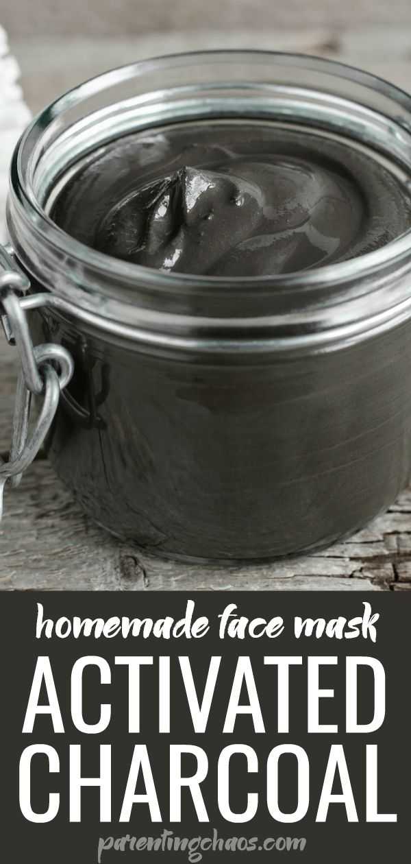 DIY Activated Charcoal Face Mask #homemadefacelotion