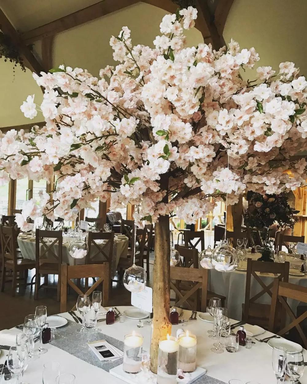 Cherry Blossom Centerpieces For Sale Cherry Blossom Centerpiece Blossom Tree Wedding Tree Wedding Centerpieces